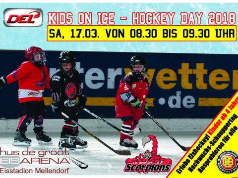 DEL KIDS ON ICE HOCKEY DAY – ESC WEDEMARK SCORPIONS