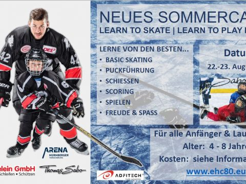 Neues Sommercamp! Learn to skate/ learn to play hockey!