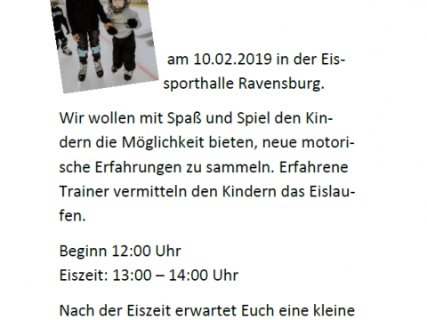 2. Kids on ice day EV Ravensburg