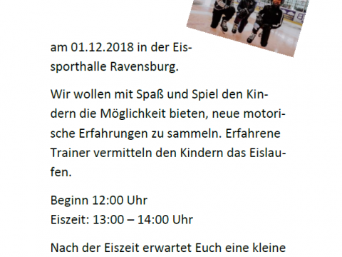 Kids on ice day – EV Ravensburg