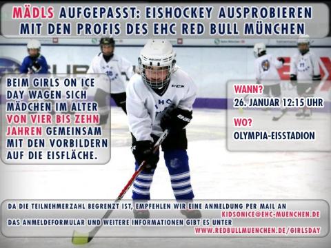 Eishockey mit den Profis des EHC Red Bull München
