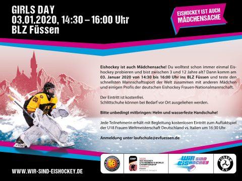 Girls Day in Füssen mit Spielerinnen der deutschen Frauen-Nationalmannschaft